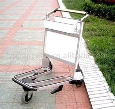 Lightweight Stainless Steel Airport Luggage Trolley Zinc Plating With Transparent Powder Coating