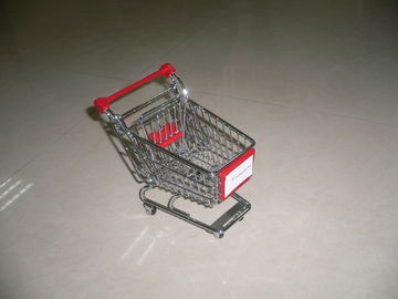 Ecommerce Retail Shop Equipment / miniature shopping cart metal in chrome finish