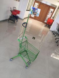 Carbon Steel Play Kids Shopping Carts Bendera Logo Pole 465 X 330 X 686mm Untuk Anak-Anak