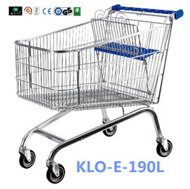 Unfoldable 190 Liter UK Shopping Cart / Metal Shopping Carts For Kids