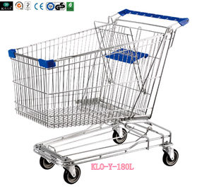 Asian Style 180liter Steel Wire Shopping Troli dengan kastor putar