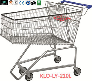 210L Grocery Disabled Shopping Trolley Dengan Base Grid / 2 Years Warranty