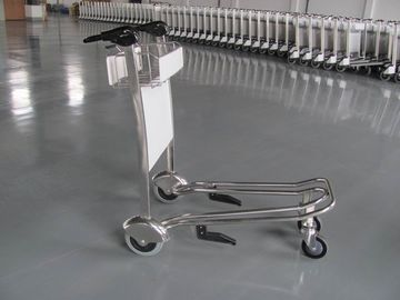 Mini Three Wheels Metal Supermarket / Airport Luggage Trolley With Brake 300KGS