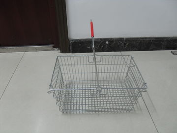 Wire Metal Shopping Basket With Single Handle For Supermarket And Store 28L
