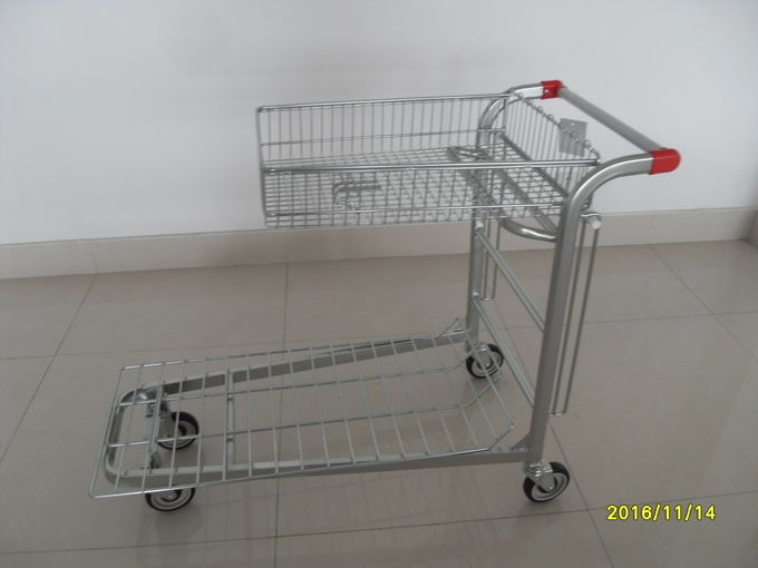 Low Carbon Steel Warehouse Cargo Trolley / Moving Trolley 20.5kg Weight 1245x535x935mm